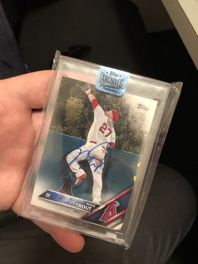 2018 Topps Archives Signature Series Mike Trout 1/1