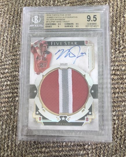 2018 Five Star Mike Trout Jumbo Patch Auto