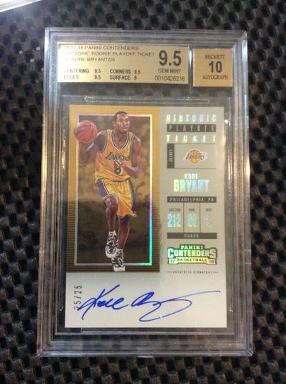 Kobe Bryant 2017-18 Contenders Playoff Ticket Auto /25