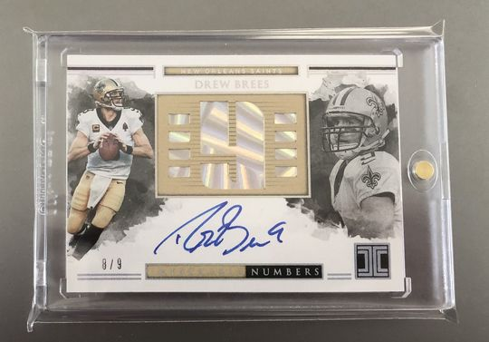2018 Panini Impeccable Drew Brees Auto