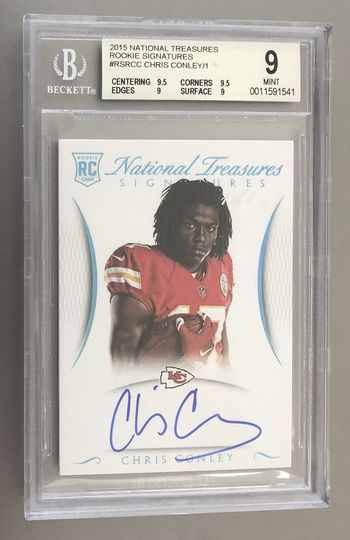 2015 National Treasures Chris Conley Auto 1/1