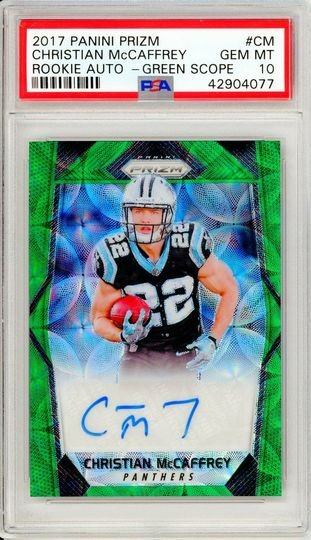 Christian McCaffrey 2017 Panini Prizm Green Scope