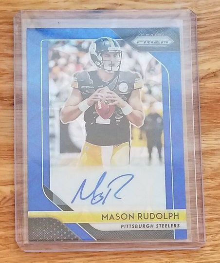 2018 Panini Prizm Blue Scope Mason Rudolph Auto #90/99