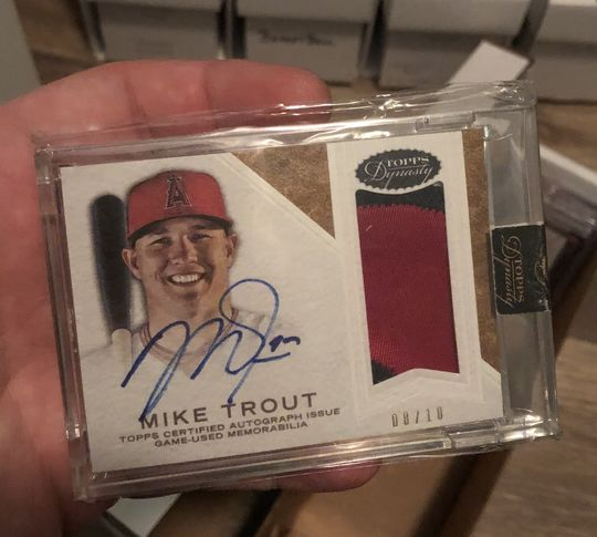 2016 Topps Dynasty Mike Trout Auto