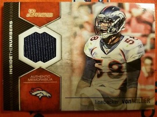 2012 Bowman Inside the Numbers Von Miller
