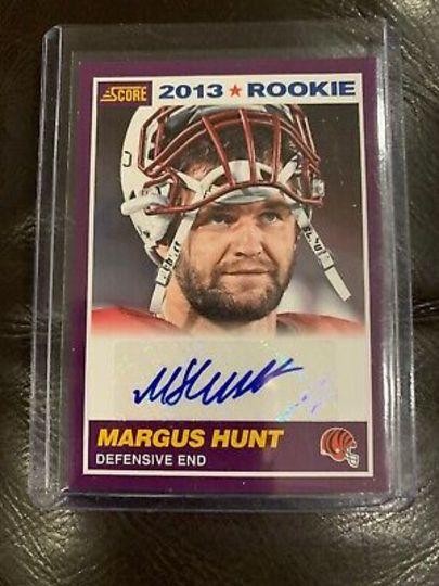 2013 Score Rookie Autographed Margus Hunt 399