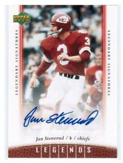 2006 Upper Deck Legendary Signatures Jan Stenerud