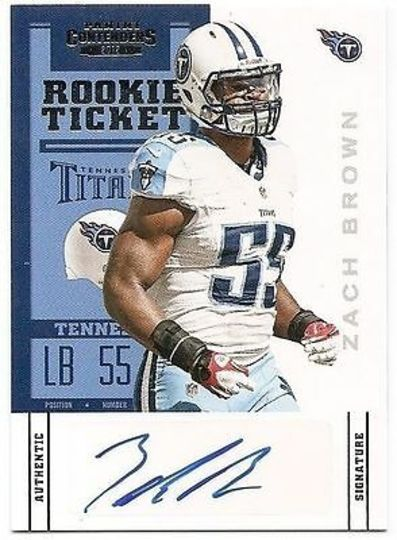 2012 Panini Contenders Rookie Ticket Autographed Zach Brown