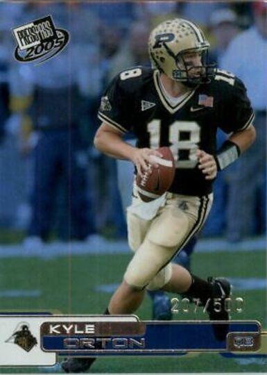 2005 Press Pass Kyle Orton R8