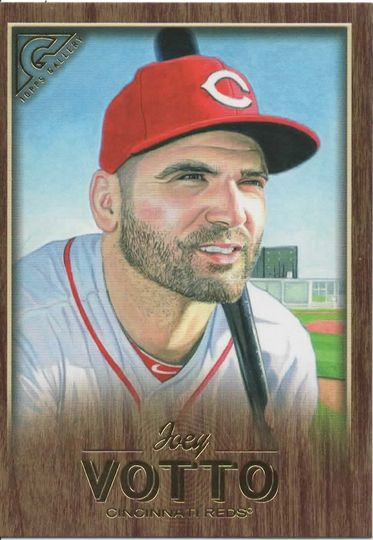 2018 topps gallery joey votto 92 wood