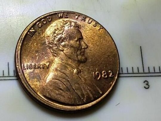 1982 penny no mint mark large date