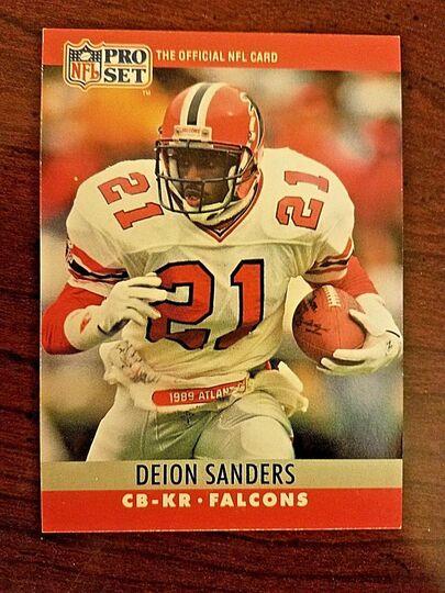 1990 pro set deion sanders
