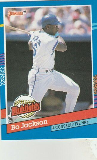 1991 donruss Bo Jackson
