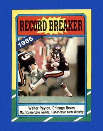 1986 Topps Walter Payton