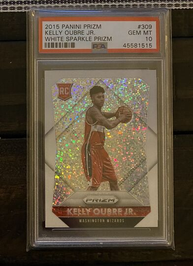 Kelly Oubre Jr. 2015-16 Panini Prizm White Sparkle SSP