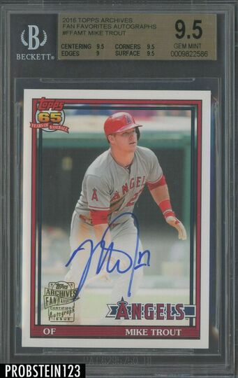 2016 Topps Archives Fan Favorites Mike Trout AUTO