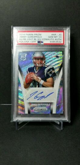 Jimmy Garoppolo Auto Prizm Blue Wave /35 PSA 10