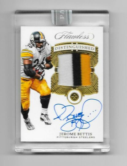 2017 Flawless Jerome Bettis 2019 Black Box 1/1 SSP STEELERS