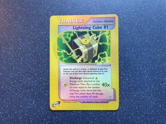 Pokemon Aquapolis Uncommon Card #127//147 Lightning Cube 01