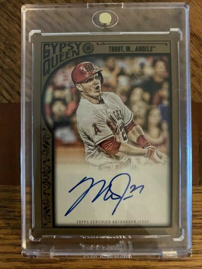 Mike Trout 2015 Topps Gypsy Queen Auto