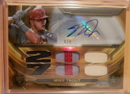 2019 Topps Triple Threads Auto Mike Trout #2/9