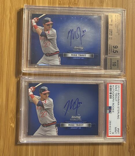 2012 Bowman Sterling Mike Trout Rookie Auto