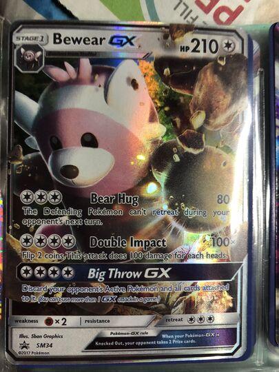 Bewear GX SM34 SM Black Star Promo HOLO Pokemon Card NEAR MINT