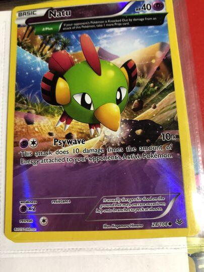 Pokemon 24/108 natu