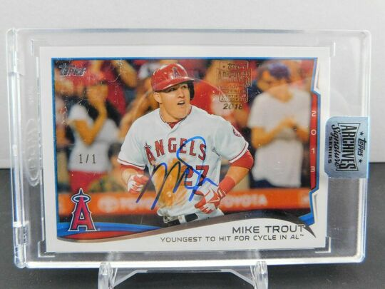 Topps Archives Mike Trout Auto