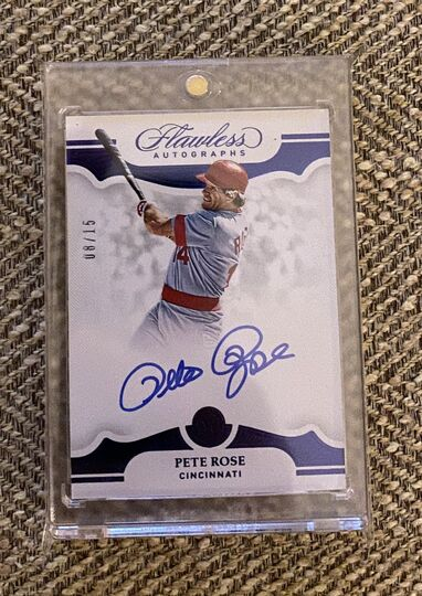 2019 Flawless Pete Rose Auto