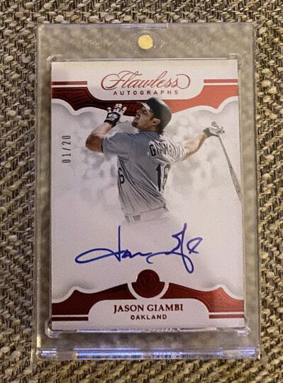 2019 Flawless Jason Giambi Auto