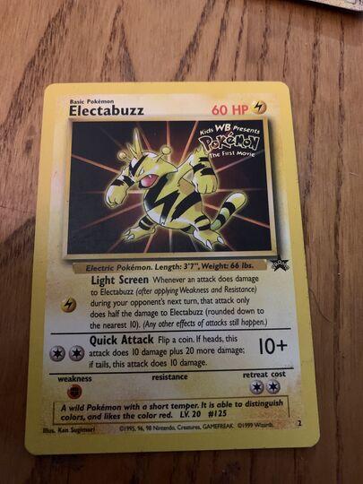 electabuzz promo pokemon movie card