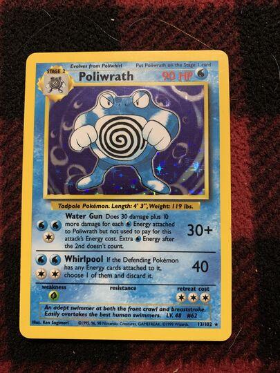 poliwrath holo 13/102