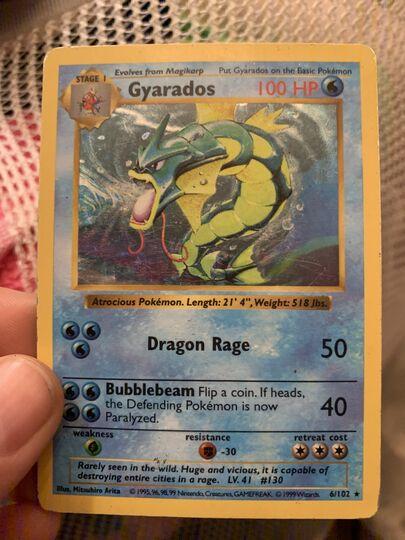 pokemon first edition shadowless gyarados holo