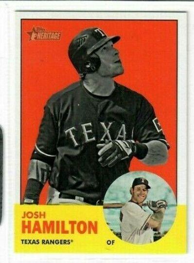 2012 topps heritage josh hamilton #486