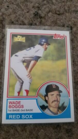 2012 topps archives wade boggs #498