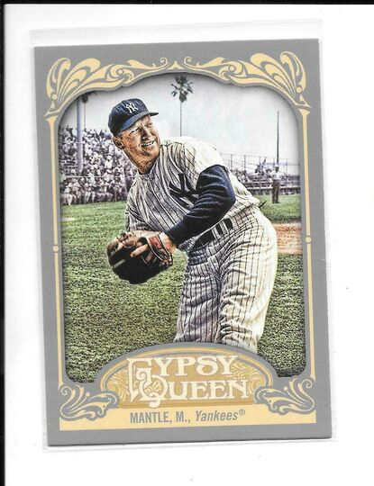 2012 topps gypsy queen mickey mantle #120