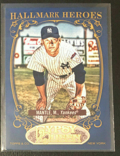 2012 topps gypsy queen mickey mantle hh-mm