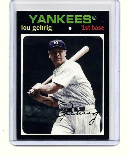 2012 topps lou gehrig #89