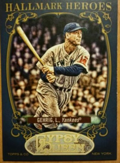 2012 topps gypsy queen lou gehrig