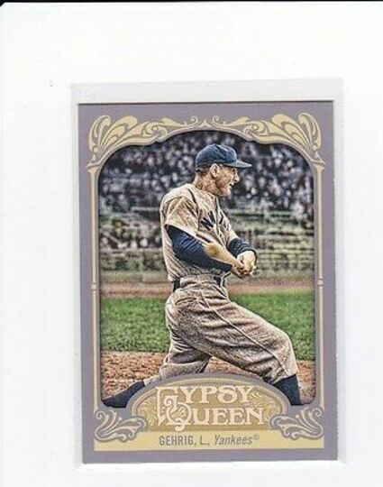 2012 topps gypsy queen lou gehrig #236