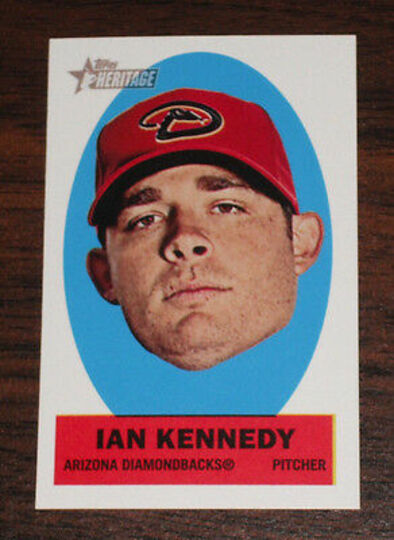 2012 topps heritage ian kennedy #24