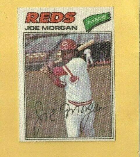 1977 topps cloth sticker joe morgan