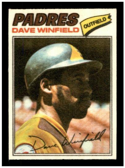 1977 topps cloth sticker dave winfield