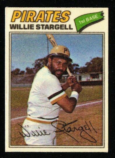 1977 Topps Cloth Sticker Willie Stargell