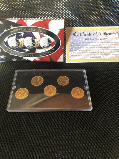 24k gold mint quarters 2000 Collection Image
