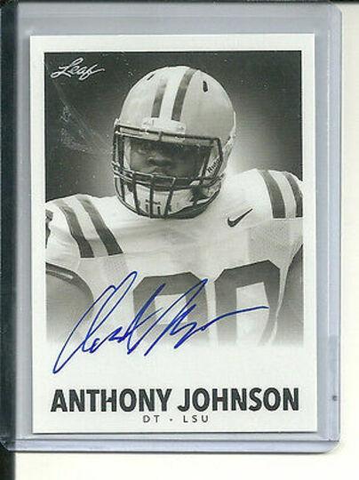 2014 leaf anthony johnson autograph
