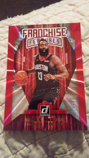 2019-20 panini james harden franchise features
