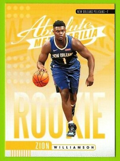 2019 absolute zion williamson yellow rookie