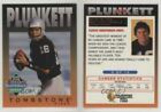 tombstone classic quarterback series plunkett